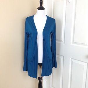 StylePlus open stretchy cardigan w/ pockets